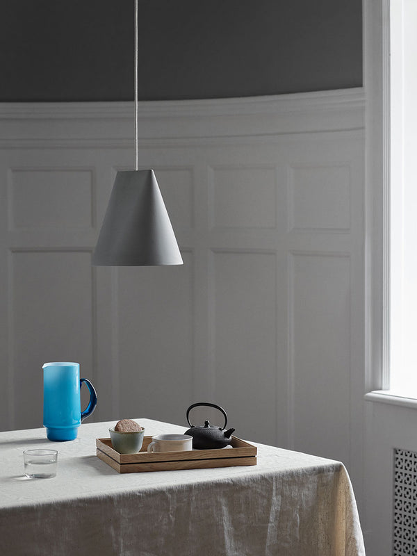ceramic pendant lamp grey moebe