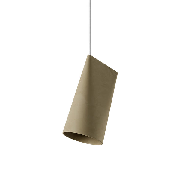 ceramic pendant olive narrow