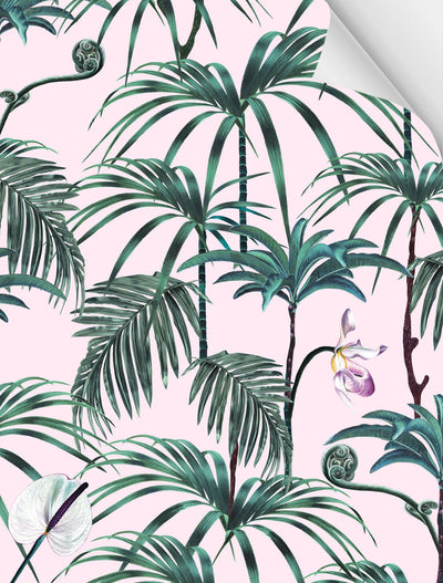 Witch and watchman Elysian Palms Pink wallpaper sample