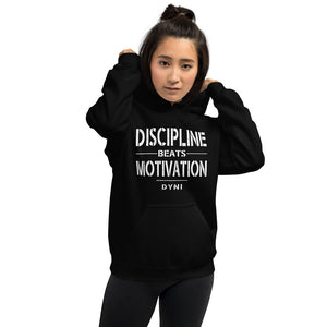 Discipline Beats Motivation Hoodie