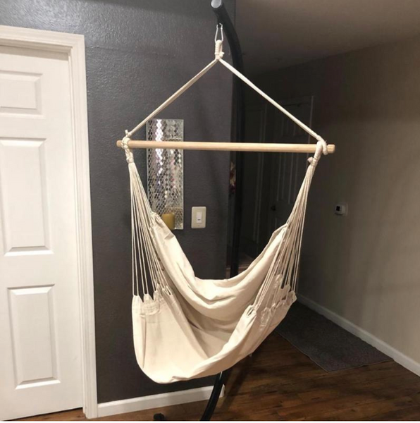 From-A-Far™ Natural Rope Hanging Chair Hammock Swing - Sharp Shifter