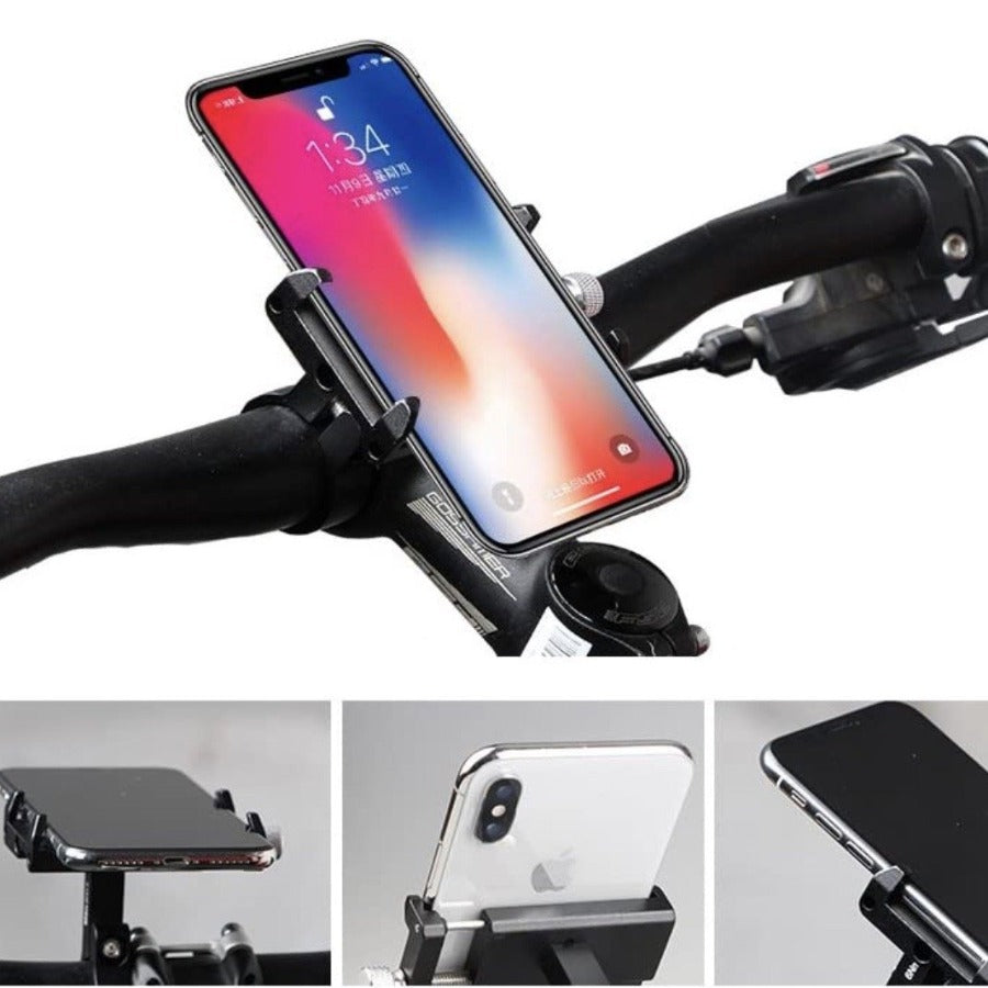 Heavy-Duty Bike Phone Mount Cell Phone Holder for Motorcycle & MTB - Sharp Shifter