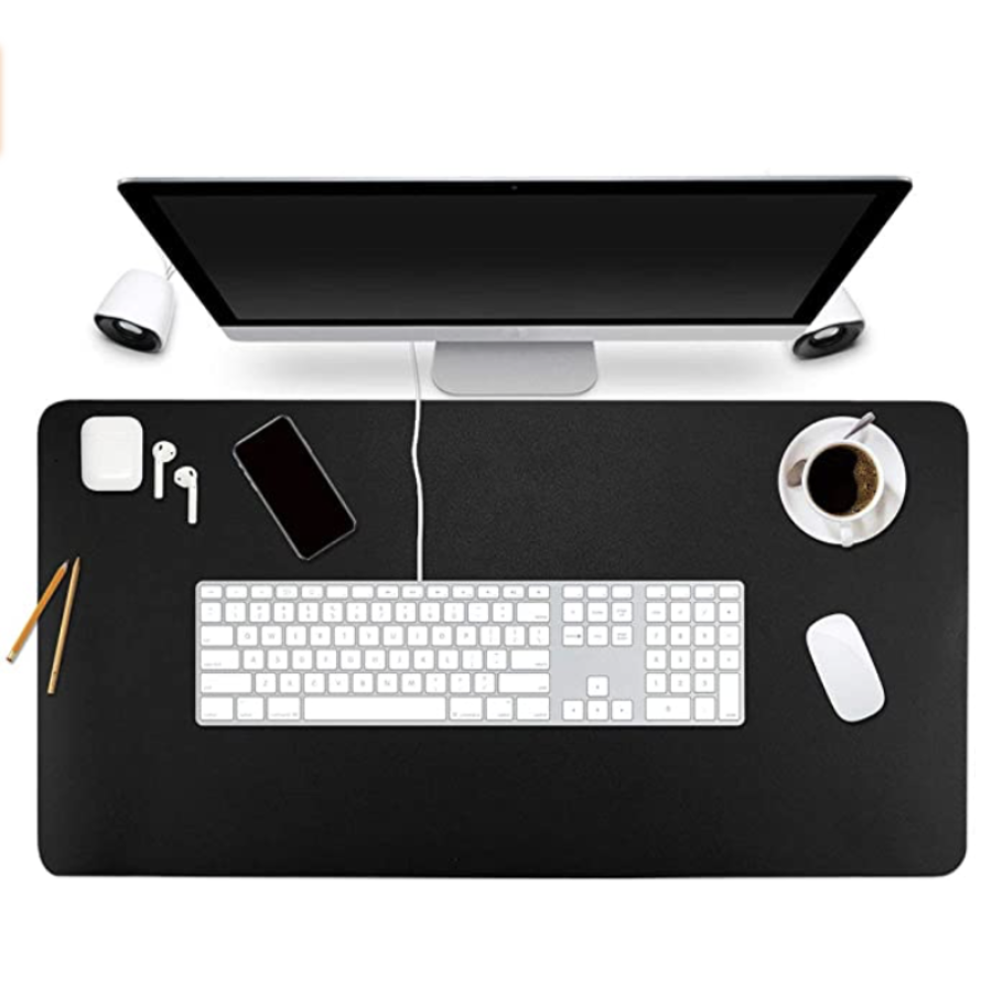 SpaceFor™ Double-Sided Leather Office Desktop Mat & Workstation Accessory - Sharp Shifter