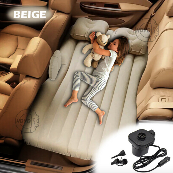 Inflatable Car Air Mattress and Car Travel Bed for Camping with Pump - Sharp Shifter