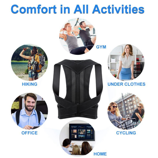 Adjustable Longline Posture Back Brace & Lumbar Posture Corrector - Sharp Shifter