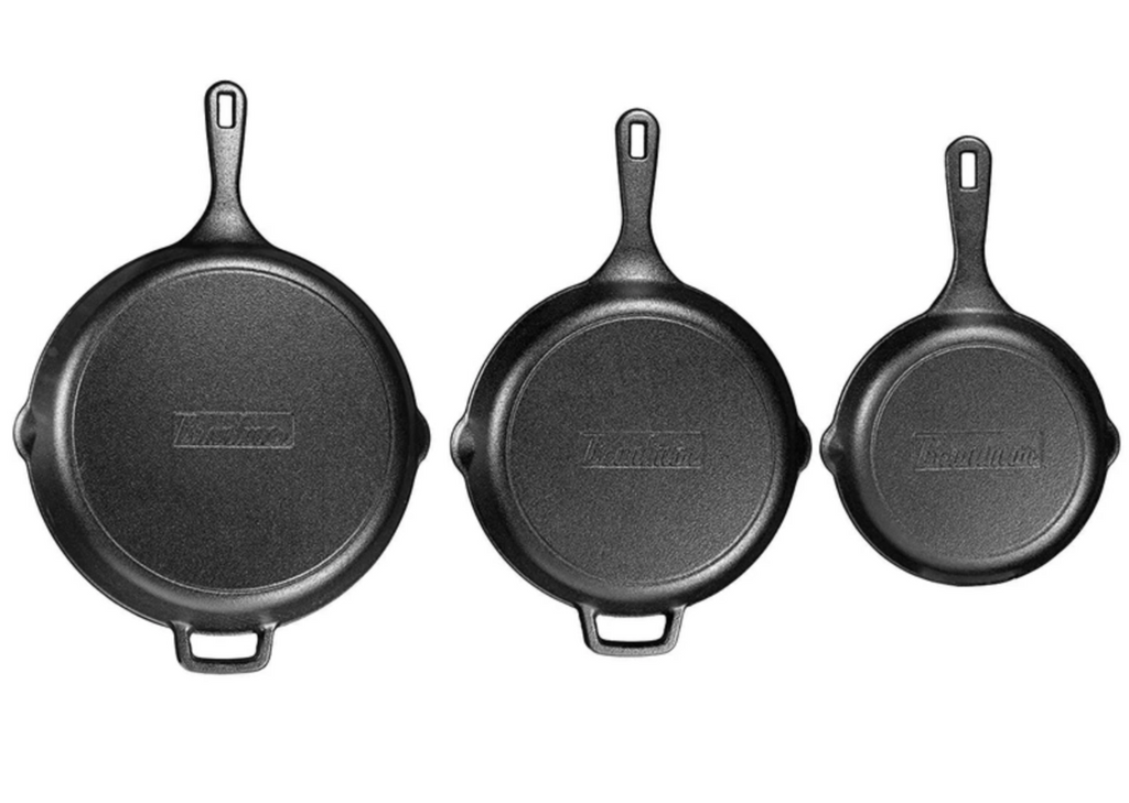 3pc Pre-Seasoned Cast Iron Skillet Pans and Kitchen Cooking Set - Sharp Shifter