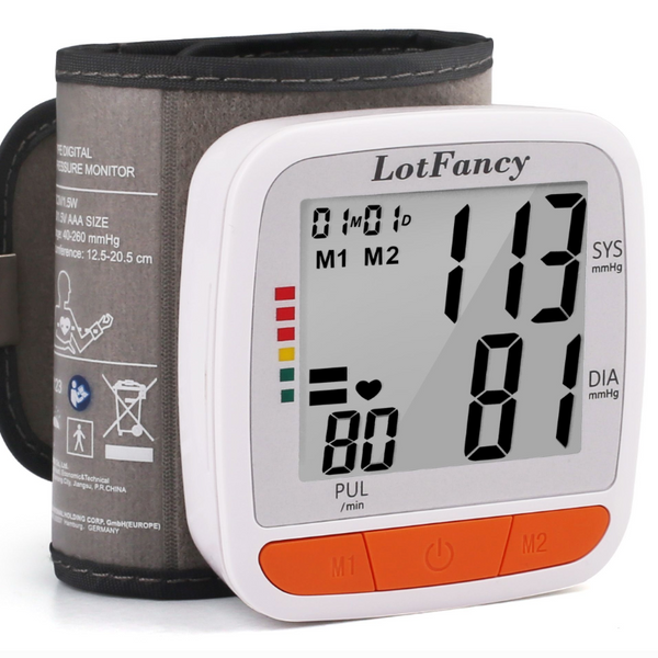 Automatic Wrist Blood Pressure Monitor & Digital Blood Pressure Cuff - Sharp Shifter