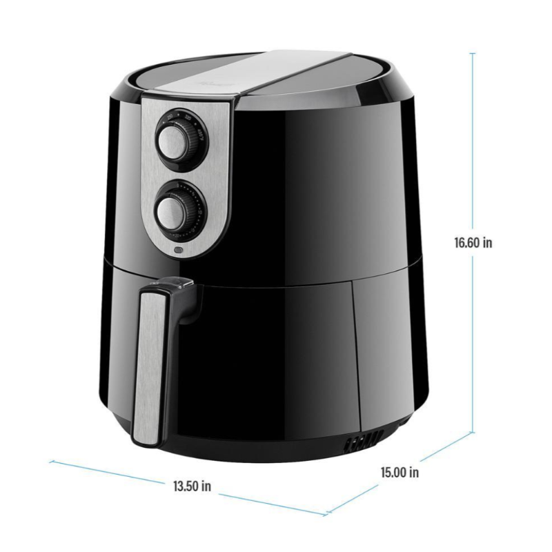 5.8Qt Kitchen Deep Air Fryer with Simple Dial Controls - Sharp Shifter