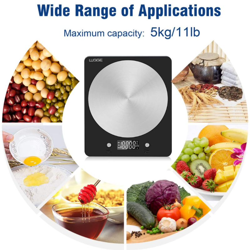 Stainless Digital Food Scale for Kitchen (Ounce / Gram Scale Weights) - Sharp Shifter