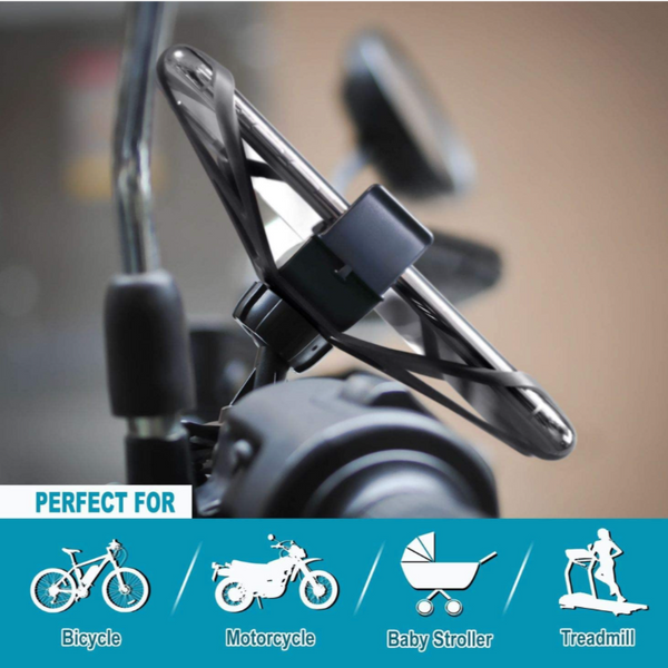Universal Motorcycle Phone Mount for Bikes with 360 Rotatable Cradle - Sharp Shifter