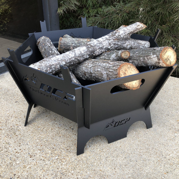 20″ Steel Portable Fire Pit and Wood Burning Fire Pit for Outdoors - Sharp Shifter
