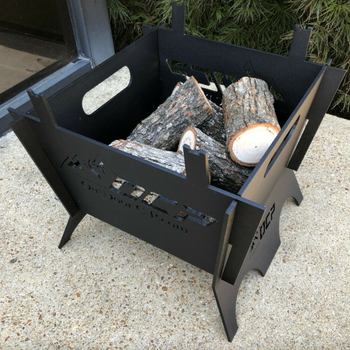 13″ Wood Burning Fire Pit for Outdoors and Steel Portable Fire Pit - Sharp Shifter