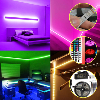 Lights Room 16.5ft Stick On LED Room Light & LED Light Strips with Remote - Sharp Shifter