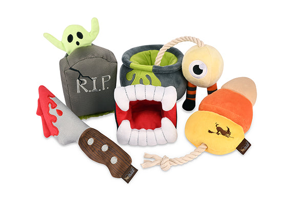 Set Of Dog Stuffed Animals, Dog Toys Spooktacular Halloween Plush Toy Collection From P L A Y