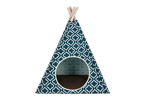 Gallery: Pet Teepee Moroccan Navy Blue PY6008DUF