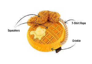 Gallery: Barking Brunch Chicken & Waffles Toy PY7097CSF