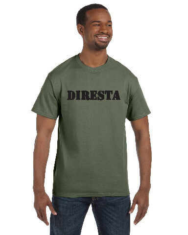 DIRESTA GREEN TEE WITH BLACK PRINT