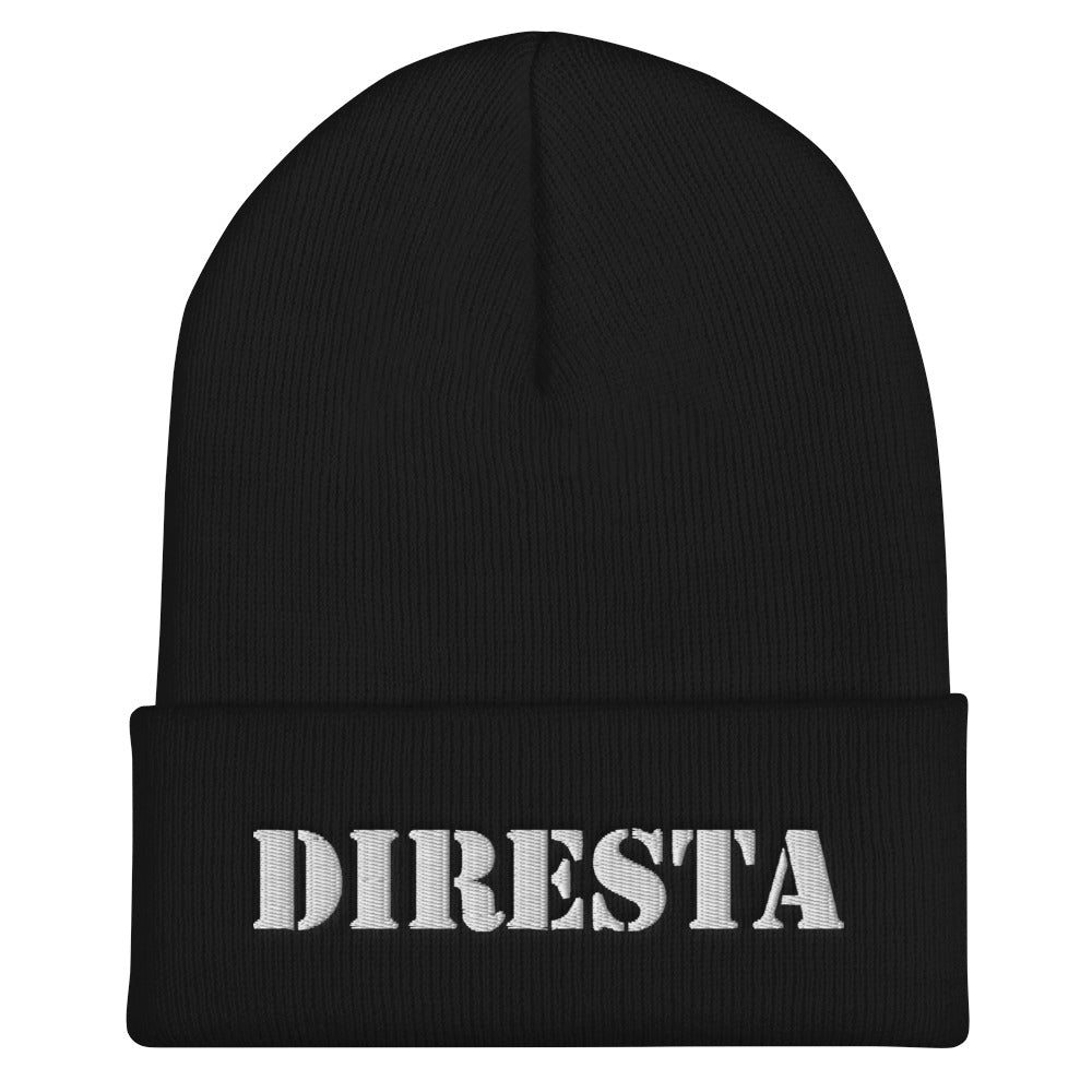 DIRESTA EMBROIDERED CUFFED BEANIE