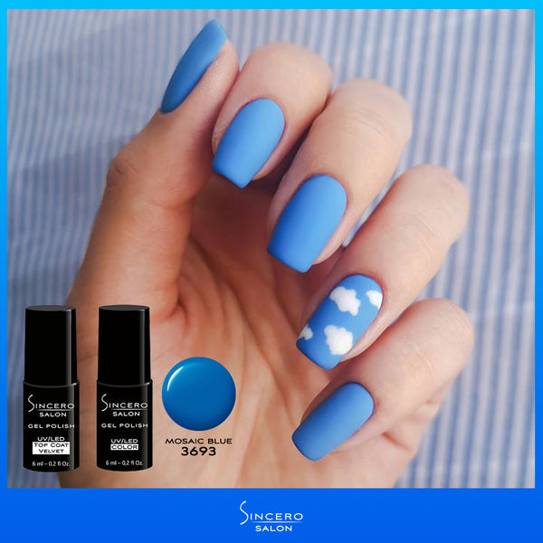 "Lakier hybrydowy ""Sincero Salon"", 6ml, Mosaic Blue , 3693"