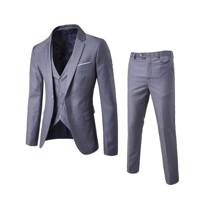 Slim Fitting Three Piece Suit