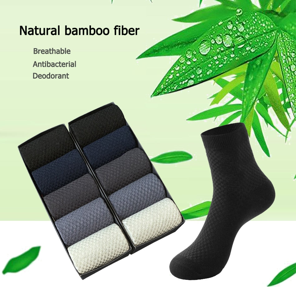 10 Pairs High Quality Bamboo Fiber Men's Socks