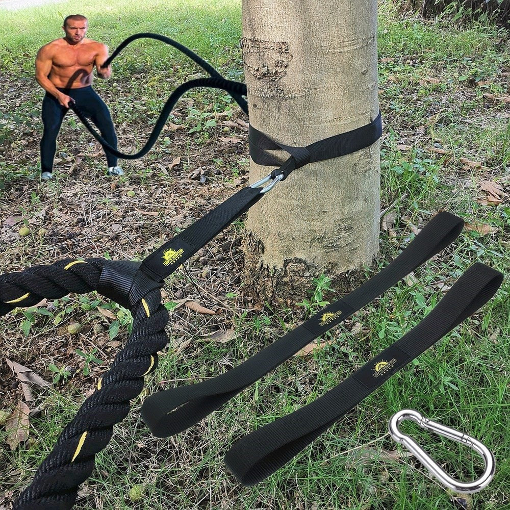 Battle Rope Fitness With Anchor Strap