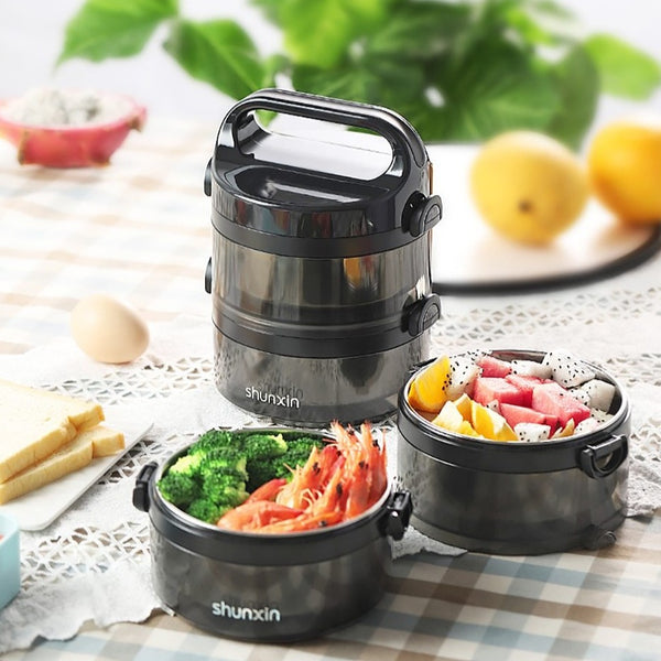 Lunch Box Inox 2 Etages | Bento-Cook.com