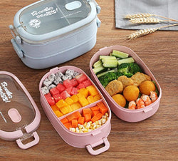 Bento Oval Pink and Blue | Bento-cook.com