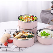 Bento Box Round Stainless Steel | bento-cook.com