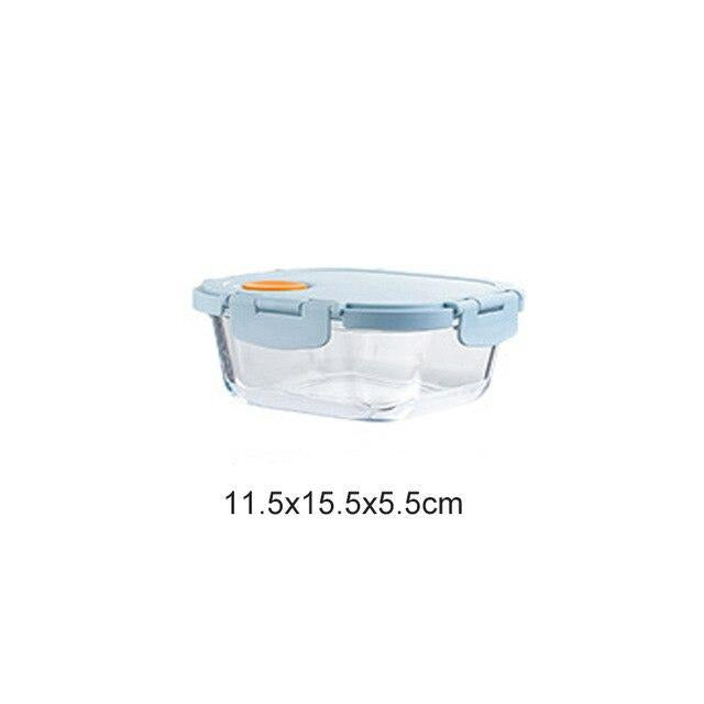 Glass Bento Box with compartments