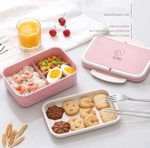 Bento squirrel Pink and green | Bento-cook.com