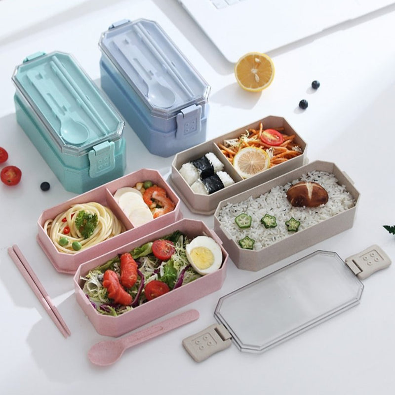 Vintage Bento Box with 2 floors