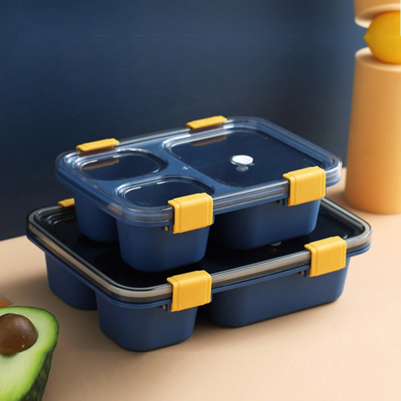 Plastic Bento Box with transparent lid