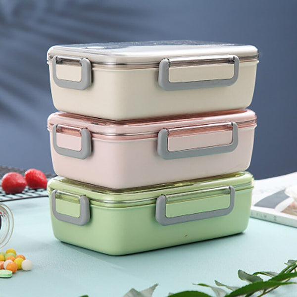 Stainless Steel and Glass Bento Box