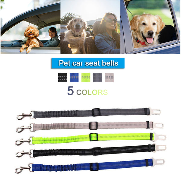 Vehicle Car Pet Dog Safety Belt Car Puppy Safety Belt Harness Lead Clip Pet Dog Supplies Safety Traction Car Lever Products