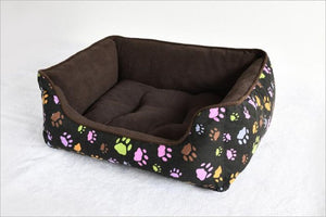 Canvas Pet  Bed with super soft interior and removable cushion
