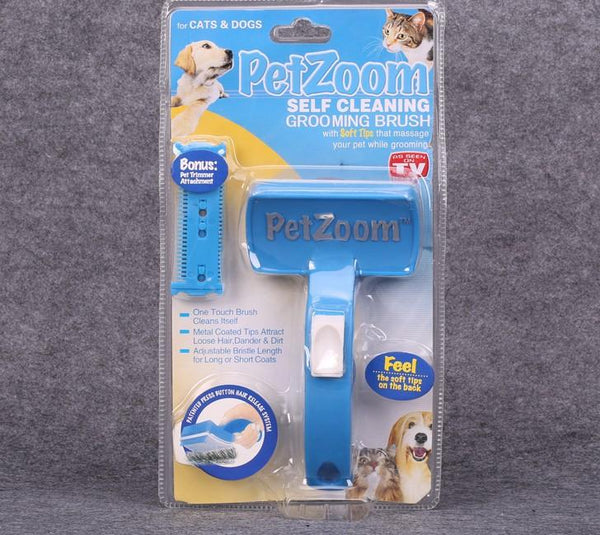 PetZoom Brush for Dogs and Cats Pet Grooming Brush Removes Mats and Tangles For Long and Short Haired Pets