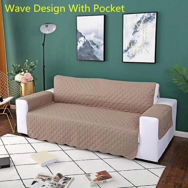 Sofa Couch Cover Chair Throw Pet Dog Kids Mat Furniture Protector Reversible Removable Armrest Slipcovers 1/2/3 Seat