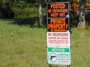 Outdoor private property signage