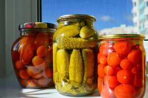 Canned veggies from the prepper's garden