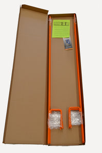 Orange EZ Step-In Post in packaging box