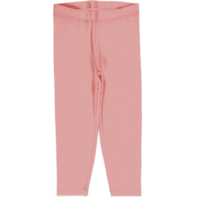 Maxomorra Solid Cropped Dusty Rose Leggings