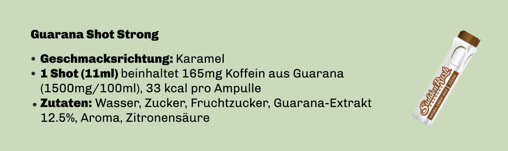 SuddenRush Guarana, Strong, Karamel, 165mg Koffein