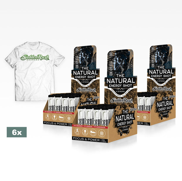 <strong> SuddenRush Guarana </strong><br>Golden Membership<br> (6 Boxen Deiner Lieblingssorte) - SuddenRush Shop - The Natural Energy Shot