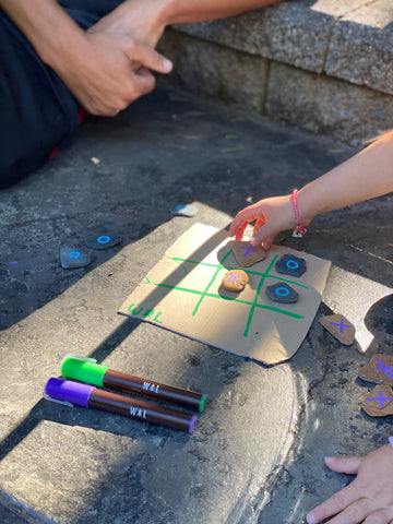 rock tic tac to natural outdoor games for kids