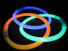 Glowsticks for wrist or ankle