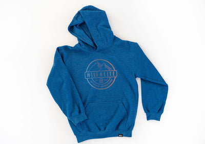 "The Wild Life Outdoor Adventures ""All Season:"" Tri-Colour Crest Logo Hoodie"