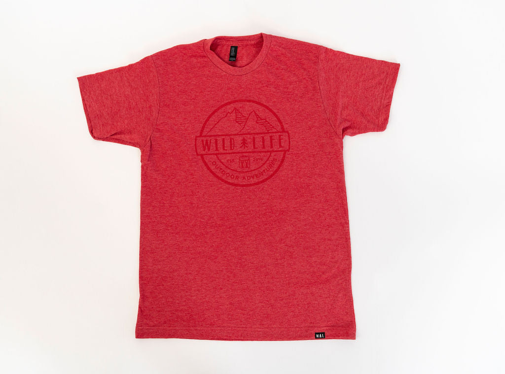 "Men's Wild | Life ""Wild Warden"" T-Shirt Blended Heather Red"