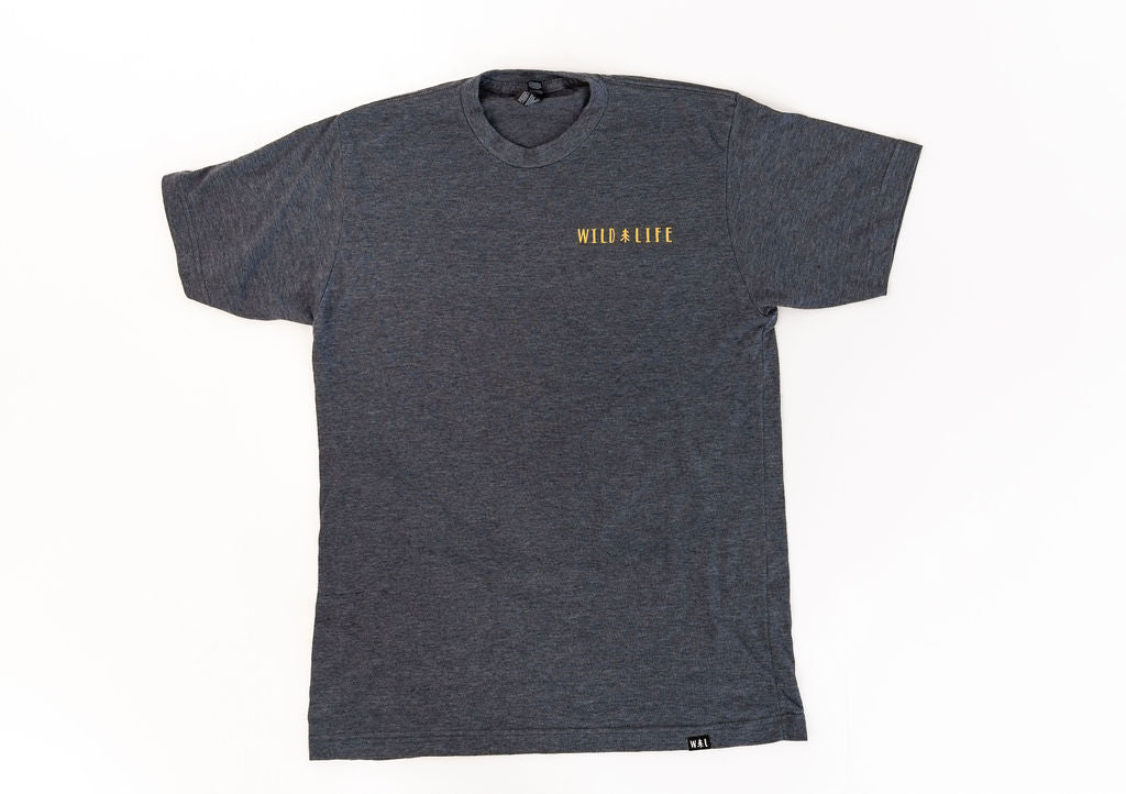 "Men's Wild | Life ""Summer Camp"" Blended T-Shirt Blue/Grey"