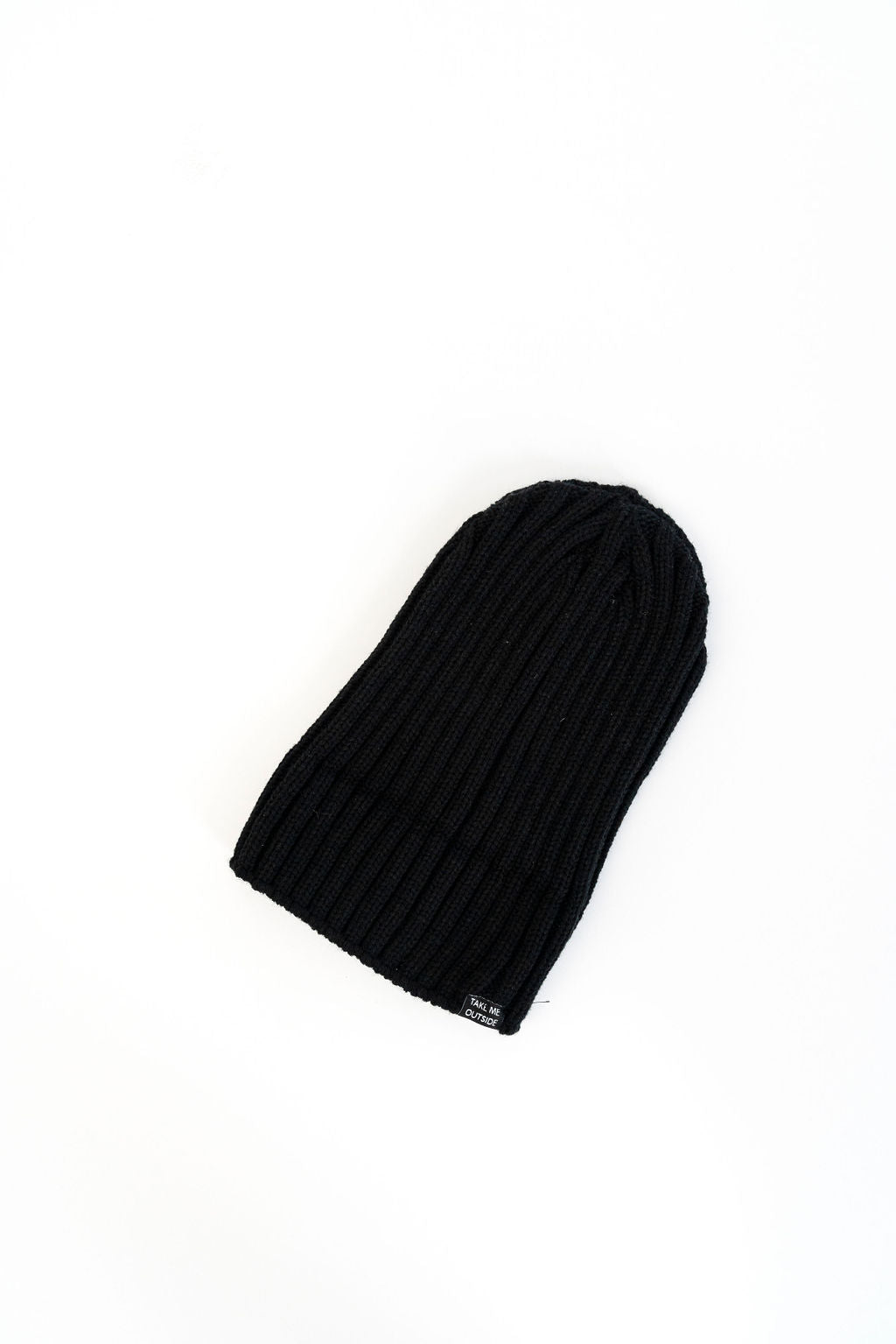 "The Wild | Life ""Great White North"" Rib Knit Toque Black"